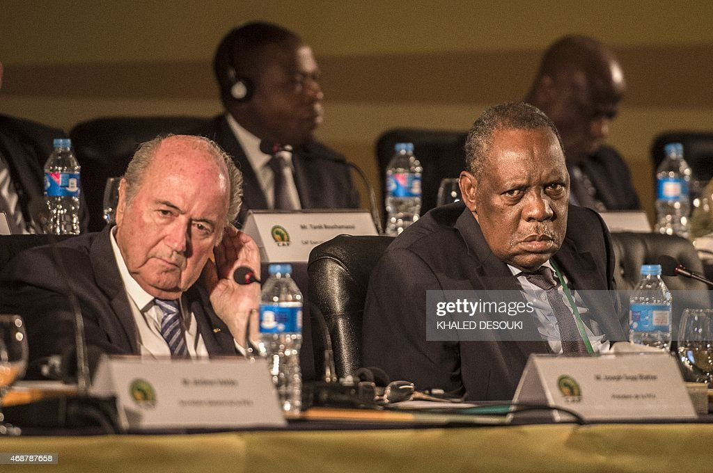 The President of the Federation of International Football Associations Joseph Sepp Blatter and the President of Confederation of African Football...