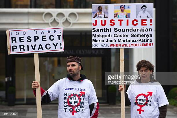 The president of the humanrights advocacy group dedicated to intersexed or hermaphrodite persons Zwischengeschlechtorg Daniela Truffer and partner...