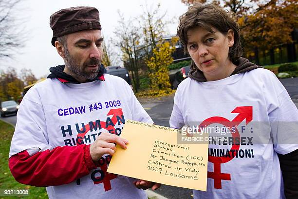 The president of the humanrights advocacy group dedicated to intersexed or hermaphrodite persons Zwischengeschlechtorg Daniela Truffer and member...