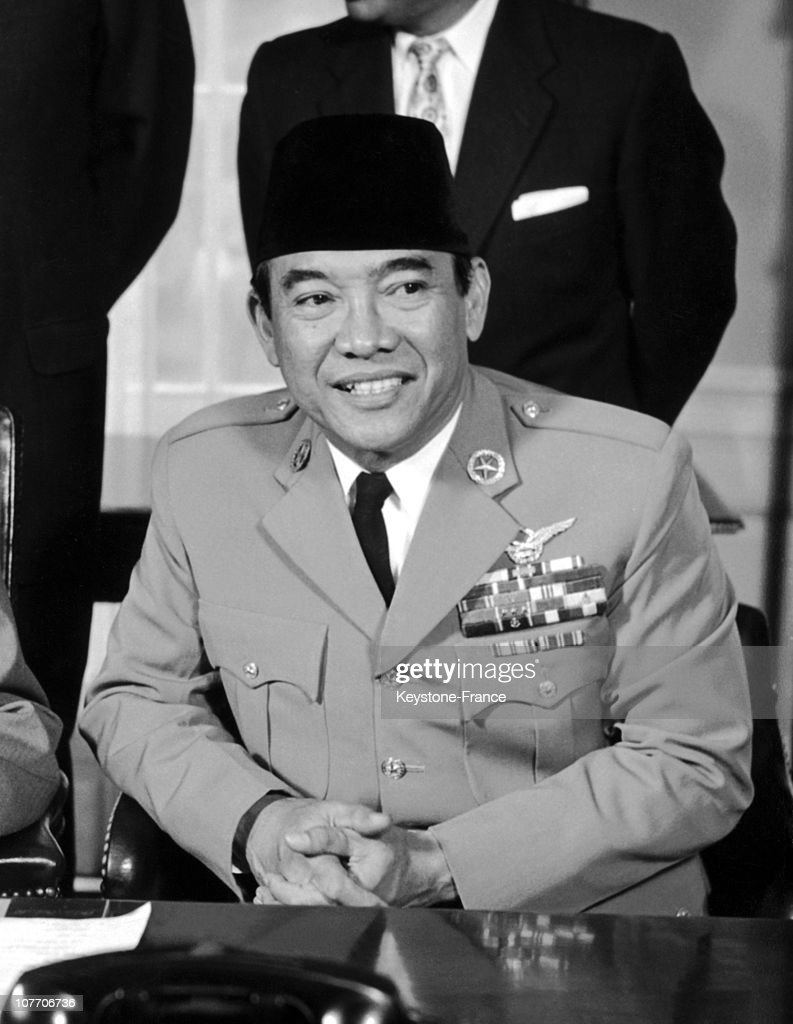 The President Of The Indonesian Republic Received By Eisenhower At The White House.