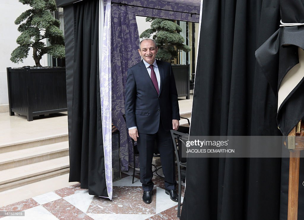 The president of the Nagorny Karabakh region's unrecognised government, Bako Sahakian, poses on April 26, 2013 during his three-day visit in Paris. The international community must take Azerbaijan's threats of regaining the disputed region of Nagorny Karabakh seriously and condemn Baku's ongoing arms-buying spree, the breakaway territory's leader said Friday. AFP PHOTO / JACQUES DEMARTHON