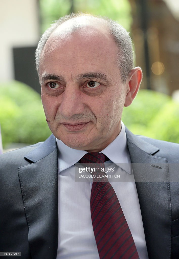 The president of the Nagorny Karabakh region's unrecognised government, Bako Sahakian, listens to a journalist's question during an interview on April 26, 2013 during his three-day visit in Paris. The international community must take Azerbaijan's threats of regaining the disputed region of Nagorny Karabakh seriously and condemn Baku's ongoing arms-buying spree, the breakaway territory's leader said Friday.