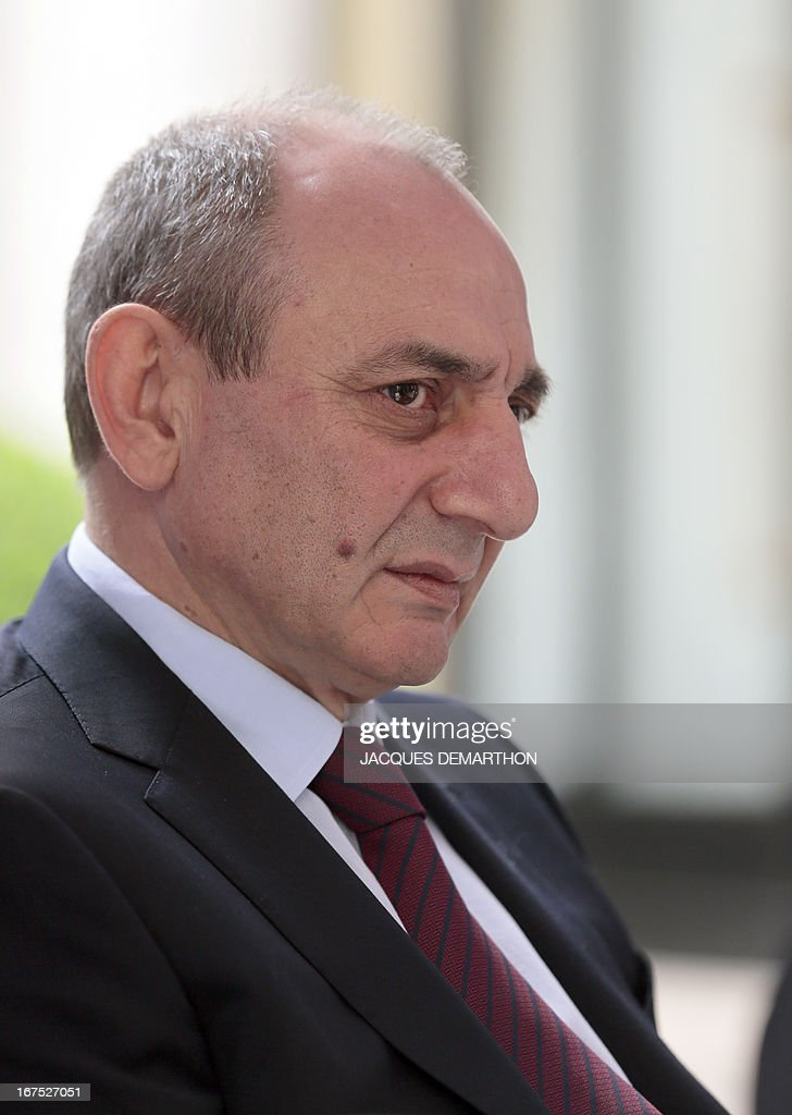 The president of the Nagorny Karabakh region's unrecognised government, Bako Sahakian, listens to a journalist's question, during an interview on April 26, 2013 during his three-day visit in Paris. The international community must take Azerbaijan's threats of regaining the disputed region of Nagorny Karabakh seriously and condemn Baku's ongoing arms-buying spree, the breakaway territory's leader said Friday.