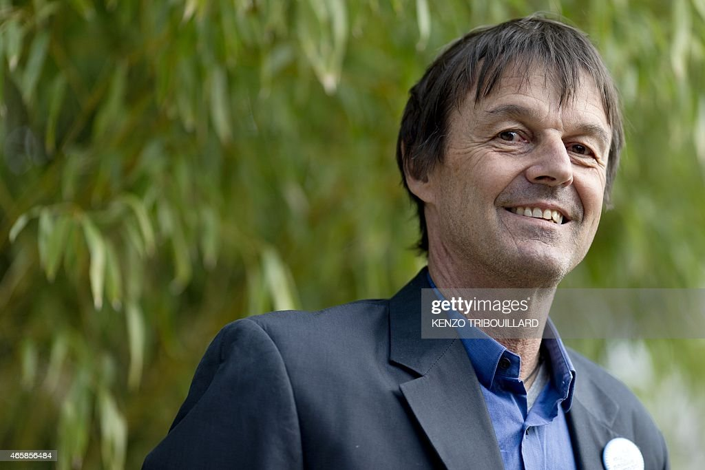 The president of the <a gi-track='captionPersonalityLinkClicked' href=/galleries/search?phrase=Nicolas+Hulot&family=editorial&specificpeople=2372364 ng-click='$event.stopPropagation()'>Nicolas Hulot</a> Foundation for Nature et Mankind, <a gi-track='captionPersonalityLinkClicked' href=/galleries/search?phrase=Nicolas+Hulot&family=editorial&specificpeople=2372364 ng-click='$event.stopPropagation()'>Nicolas Hulot</a>, poses on March 11, 2015 during the launch of the My Positive Impact campaign in Paris.