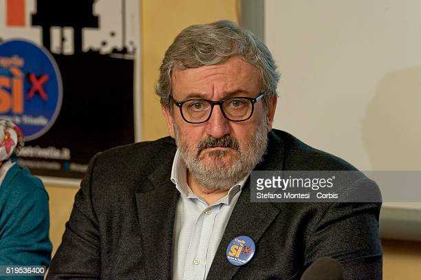 The President of the Region of Puglia Michele Emiliano and Democratic Party member holds a press conference in which he affirmed his support of the...