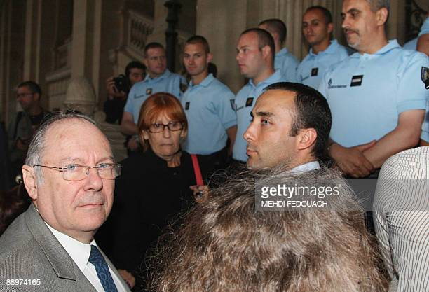 The president of the Representative council of Jewish institutions of France Richard Prasquier arrives at the Paris courthouse on July 10 2009 for...