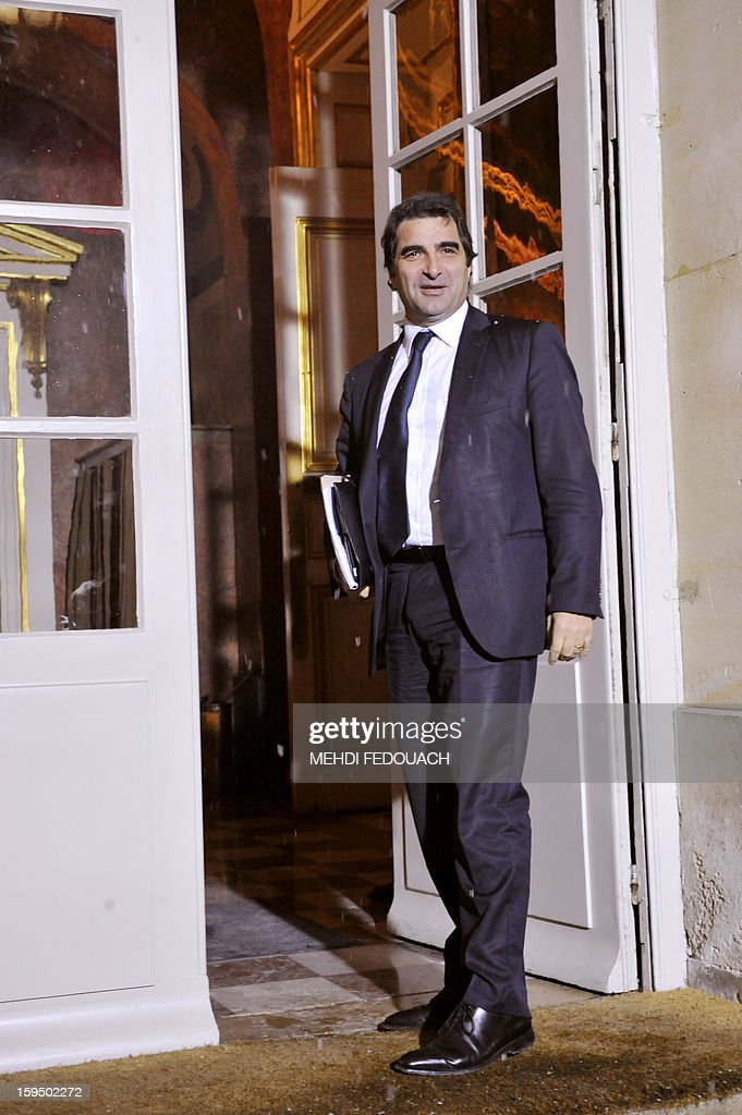 The president of the right-wing opposition UMP group at the National Assembly, Christian Jacob arrives for a meeting hosted by French Prime Minister to inform leaders of French political parties on France's military intervention in Mali on January 14, 2013 at the Hotel Matignon in Paris. France launched its operation against Mali-based Islamists on a unilateral basis on January 11, but has since been offered logistical support by several NATO allies, including Belgium, Britain, Denmark, Germany and the United States.
