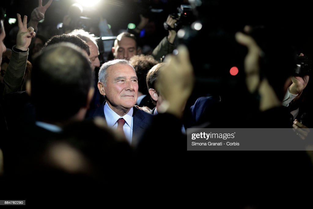 The President of the Senate, Pietro Grasso, during the assembly of the Left that launches the unitary List of Liberi e Uguali (Free and Equals), on December 3, 2017 in Rome, Italy.