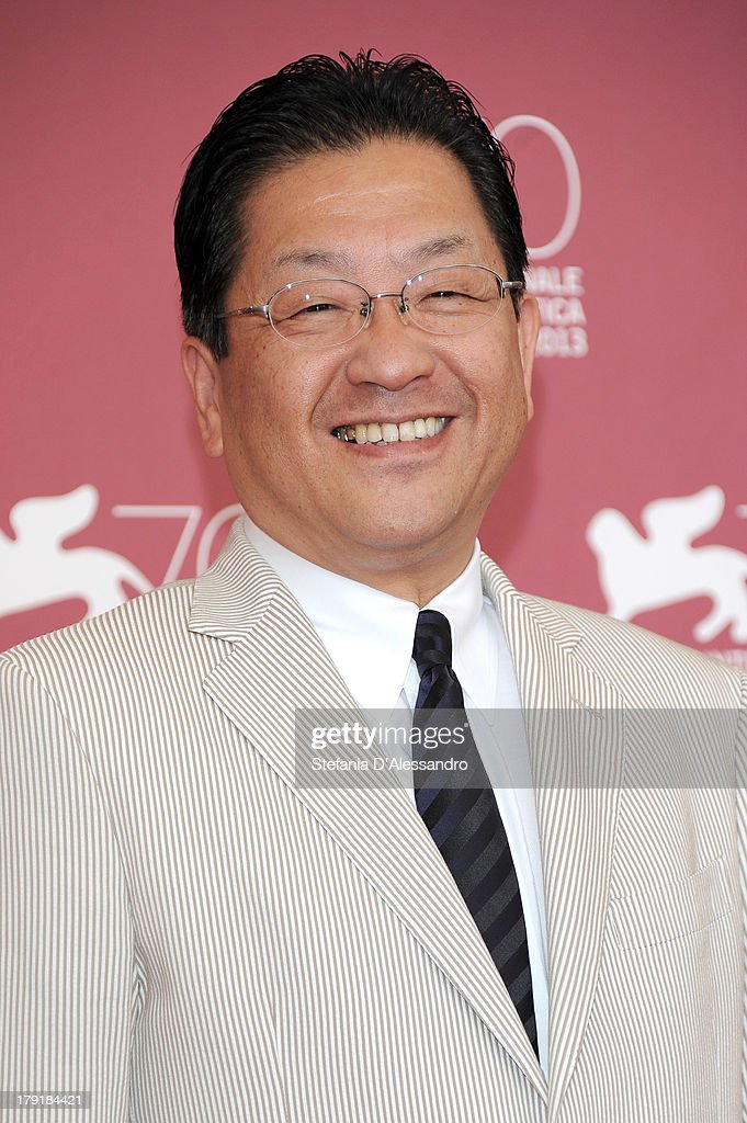 The president of the Studio Ghibli Koji Hoshino attends 'Kaze Tachinu' Photocall during the 70th Venice International Film Festival at Palazzo del Casino on September 1, 2013 in Venice, Italy.