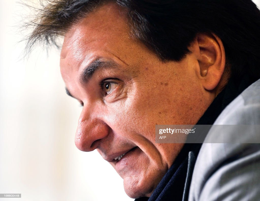 The president of the Swiss football club FC Sion Christian Constantin speaks during an interview on November 7, 2012 in Martigny.