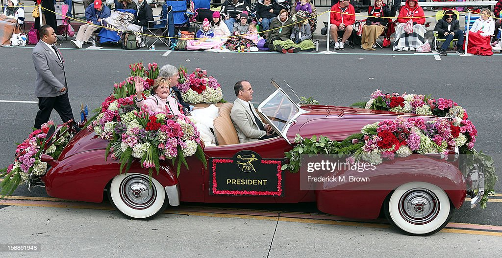 The President of the Tournment of Roses on the route during the 124th Rose Parade Presented By Honda on January 1, 2013 in Pasadena, California.