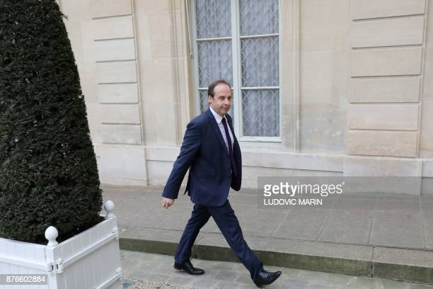 The president of the Union des Democrates Independants party JeanChristophe Lagarde arrives at the Elysee palace for a meeting with French president...