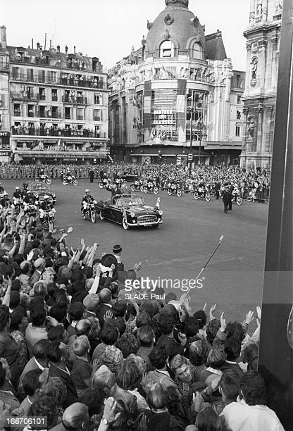The President Of The United States Dwight David Eisenhower At The City Hall Of Paris Le 02 septembre 1959 à l'occasion d'un voyage officiel en France...