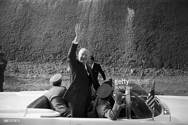The President Of The United States Dwight David Eisenhower In Morocco En décembre 1959 à l'occasion d'un voyage officiel au Maroc le président des...