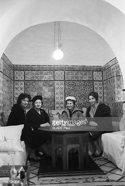 The President Of The United States Dwight David Eisenhower In Tunisia En decembre1959 à l'occasion d'un voyage officiel en Tunisie du président des...
