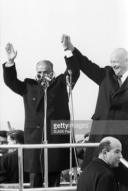The President Of The United States Dwight David Eisenhower In Tunisia En decembre1959 à l'occasion d'un voyage officiel en Tunisie le président des...