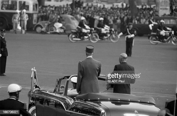 The President Of The United States Dwight David Eisenhower Received In Paris By General Charles De Gaulle Le 02 septembre 1959 dans le cadre d'un...