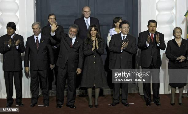 The Presidents of Bolivia Evo Morales Uruguay Tabare Vazquez Brazil Luiz Inacio Lula Da Silva Argentina Cristina Fernandez de Kirchner Paraguay...