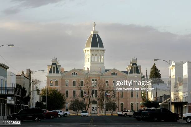 The Presidio County Courthouse in downtown Marfa Texas was built in 1886