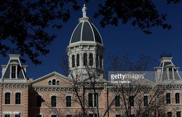 The Presidio County Courthouse is seen on December 27 2012 in Marfa Texas Situated in West Texas this town of just over 2000 residents has become a...