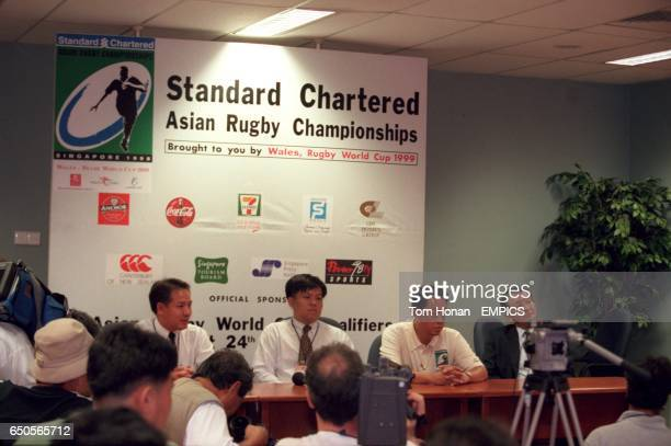The press conference where it was announced that Thailand had refused to play Singapore in the opening game due to the presence of four nonnationals...