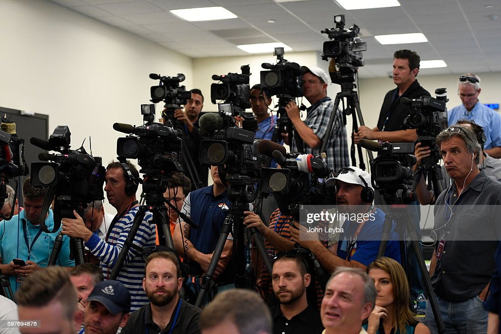 The press was out in full force to hear Denver Broncos quarterback Trevor Siemian answer questions during his press conference about being named the...
