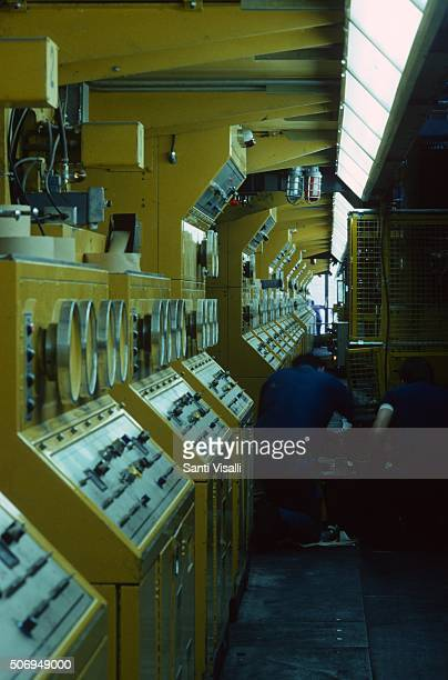 The presses at the Boston Globe on May 20 1988 in Boston Massachussetts