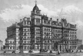 The prestigious Langham Hotel in Portland Place London shortly after its opening in 1865 The Langham was London's first large hotel Original...