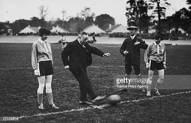 The Preston Ladies Football Club represent England in a Women's International match against France at Herne Hill May 1925 Funds from the match will...