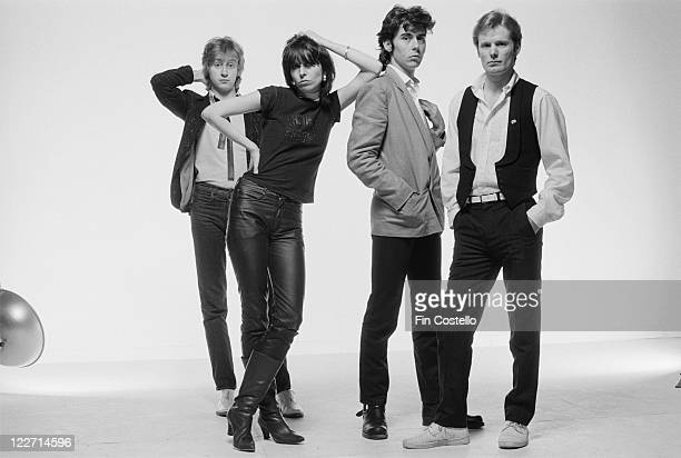 The Pretenders guitarist James HoneymanScott singer and guitarist Chrissie Hynde bassist Pete Farndon and drummer Martin Chambers British rock band...
