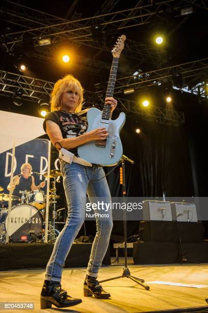 The Pretenders during his performance in the green setting on the opening day of the 52 Heineken Jazzaldia in San Sebastian Spain on July 21 2017