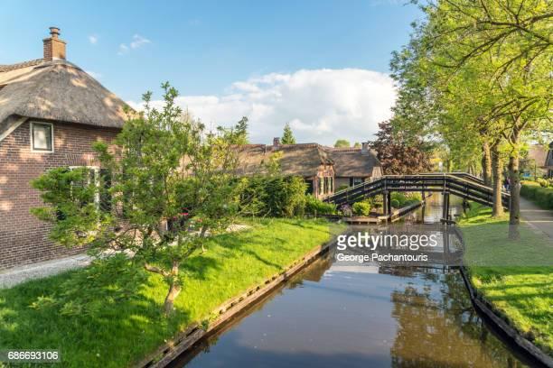 The pretty Dutch village of Giethoorn