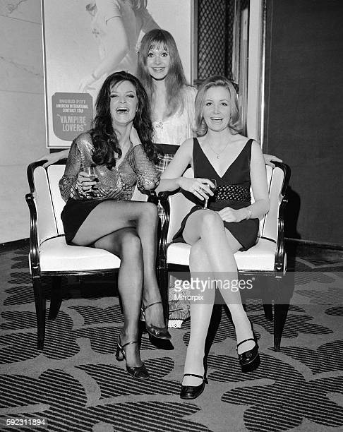 The pretty victims in the film left to right' Kate O'Mara Madeline Smith and Pippa Steel 13th January 1970