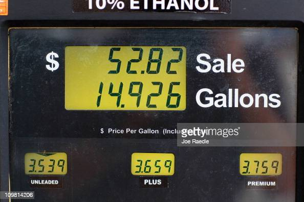 The price for a gallon of gas is seen at a Ugas station March 6 2011 in Miami Florida The national average for a gallon of selfserve regular gas was...