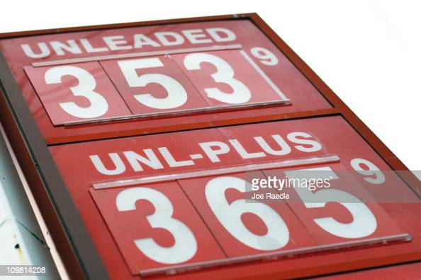 The price for a gallon of gas is seen at the Ugas station March 6 2011 in Miami Florida The national average for a gallon of selfserve regular gas...