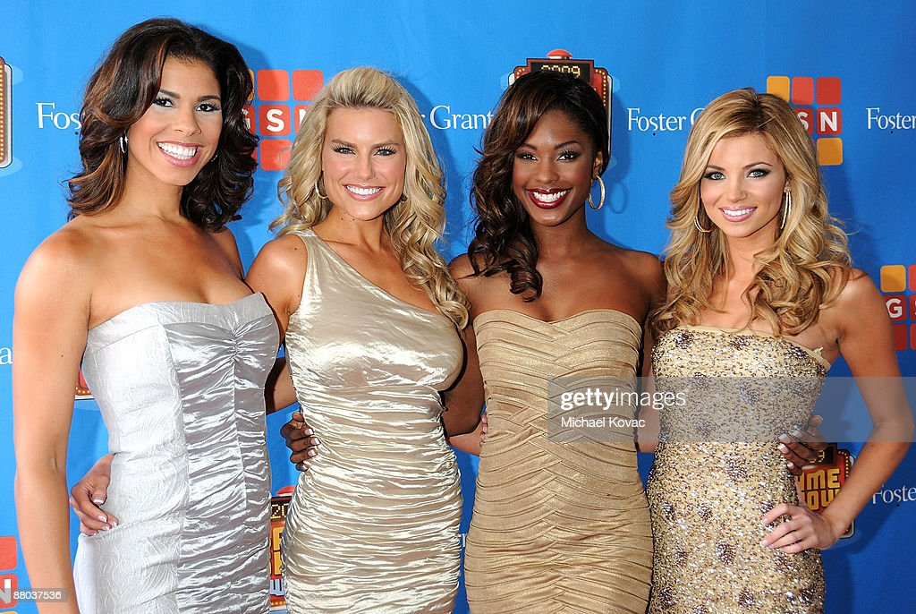 'The Price Is Right' Models Gwendolyn Osbourne, Rachel Reynolds, Lanisha Cole, and Amber Lancaster arrive at the GSN's 1st Annual Game Show Awards at the Wilshire Theatre Beverly Hills on May 16, 2009 in Beverly Hills, California.