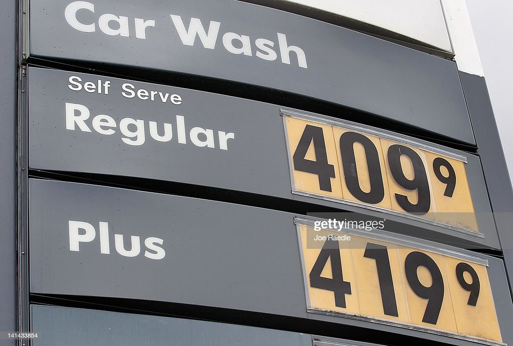 The price of gas is seen at a gas station on March 16, 2012 in Miami, Florida. Reports indicate that the consumer price index rose 0.4 percent in February, the largest increase in 10 months. Gas prices rose 6 percent to account for most of the gain.