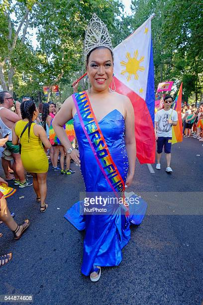 the Pride Parade during the Madrid Gay Pride Festival on June 29 2016 in Madrid Spain Madrid Gay Pride Festival is one of the biggest around the...