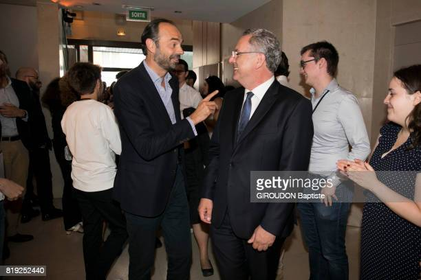The prime Minister Edouard Philippe with Richard Ferrand at the evening with 308 deputies LREM on june 24 2017 in Paris France