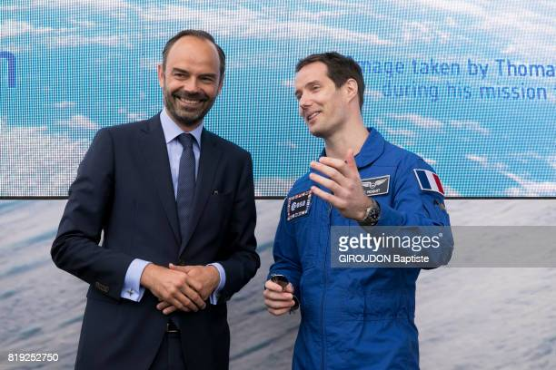 The Prime Minister Edouard Philippe with Thomas Pesquet at Salon du Bourges on june 23 2017 in Paris France