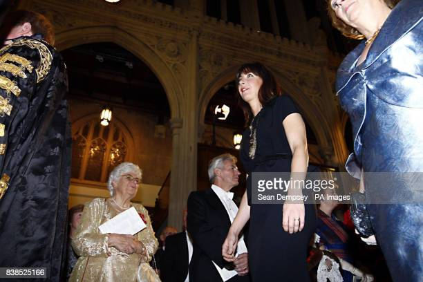 The Prime Minister's wife Samantha Cameron arrives in the Great Hall at the Guildhall in the City of London for the annual Lord Mayor's Banquet