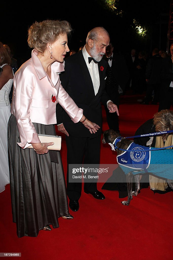 The Prince and Princess Michael of Kent attend the annual Collars and Coats gala ball in aid of Battersea Dogs & Cats home at Battersea Evolution on November 7, 2013 in London, England.