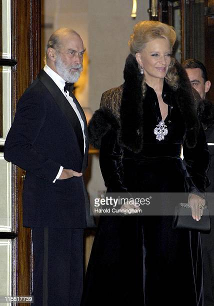 TRH The Prince and Princess Michael of Kent during HRH The Queen's 80th Birthday Party Arrivals December 5 2006 at The Ritz in London Great Britain