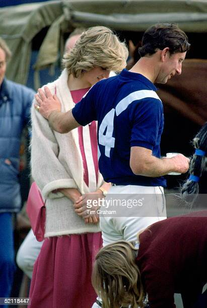 The Prince And Princess Of Wales Affectionate After A Game Of Polo At Windsor She Is Pregnant Expecting Her Second Baby