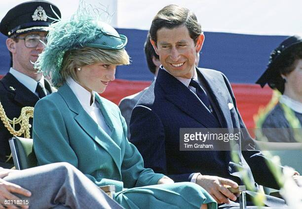 The Prince And Princess Of Wales At The Canada Gamespark In St John's Newfoundland Prince Charles Opened The Park For It 400th Anniversary