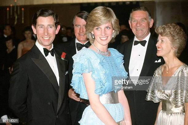 The Prince And Princess Of Wales Attending A Charity Ball In Sydney During A Trip To Australia