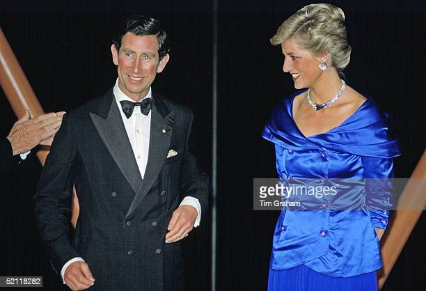 The Prince And Princess Of Wales Attending A Fashion Show At The Sydney Opera House In Australia
