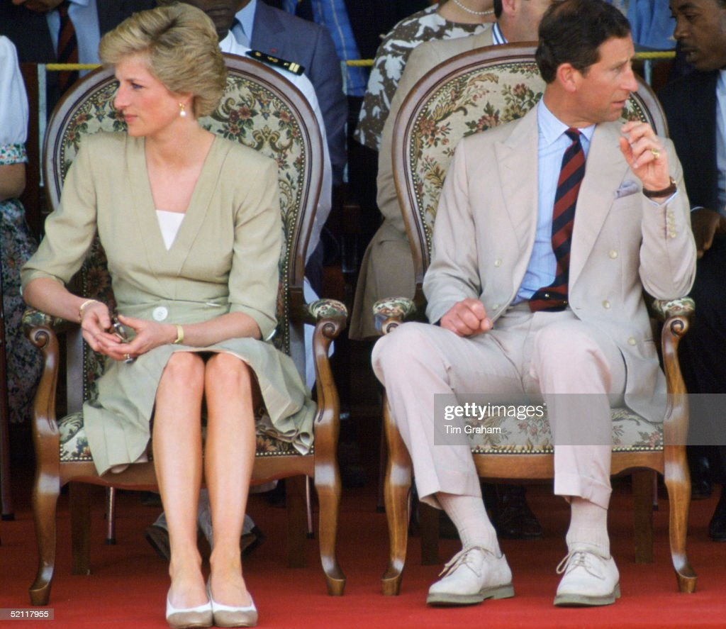 The Prince And Princess Of Wales During A Visit To Bamenda In Cameroon