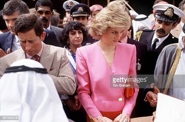 The Prince And Princess Of Wales In Abu Dhabi On The Gulf Tour