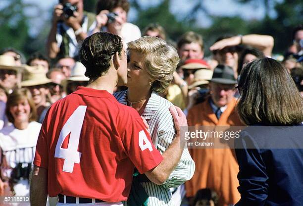 The Prince And Princess Of Wales Kissing At A Polo Match In Melbourne Australia